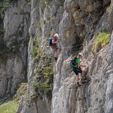 Via ferrata for sporty beginners