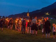 Guided torchlight walk