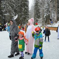 Children´s carneval at the ice skating rink
