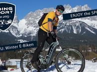 Winter E-Bike tour cross country