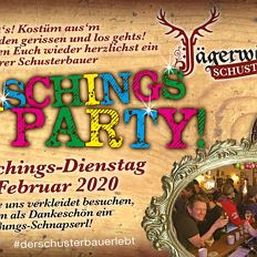 Faschings-Party in der Schusterbar
