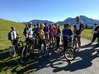 Mountain bike training tour for children