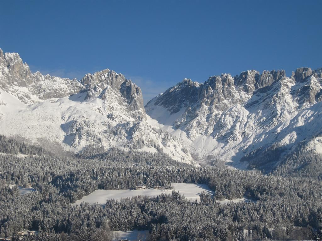 Winter Wilder Kaiser Ansicht