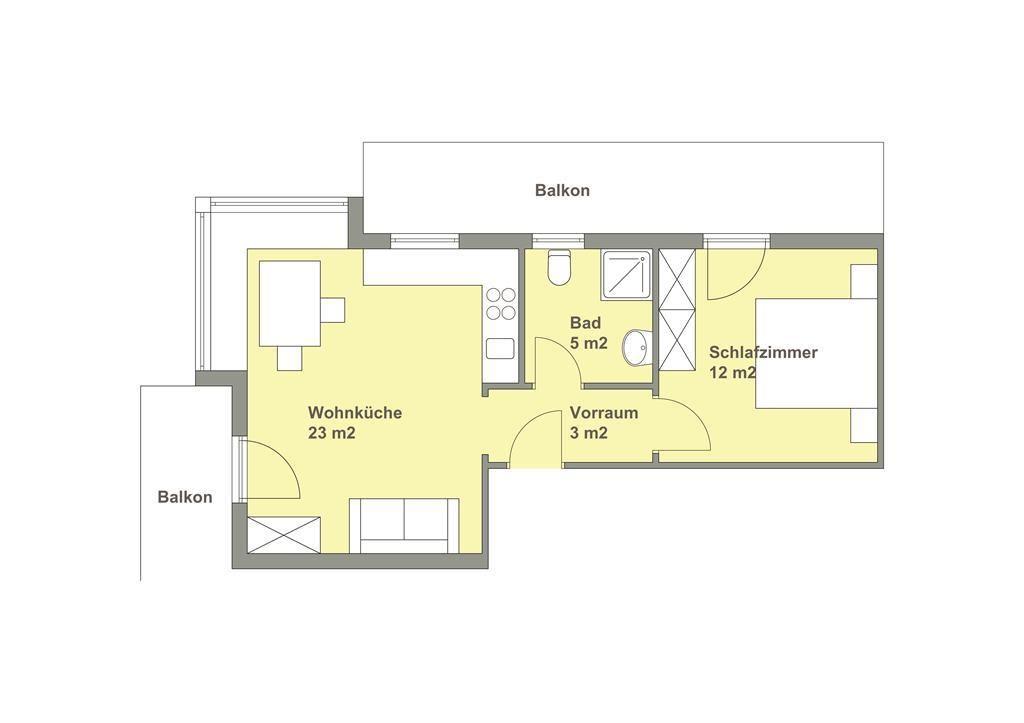 1 schlafzimmer apartment haus pl ne for Apartment haus