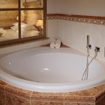 suite with shower or bath tube, WC