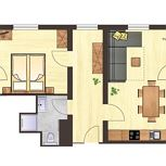 Top 3: apartment/1bedroom/shower, WC