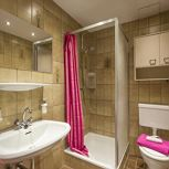 Chambre individuelle, douche, WC, balcon