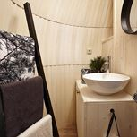 Mobile home, douche, WC, 1 slaapkamer