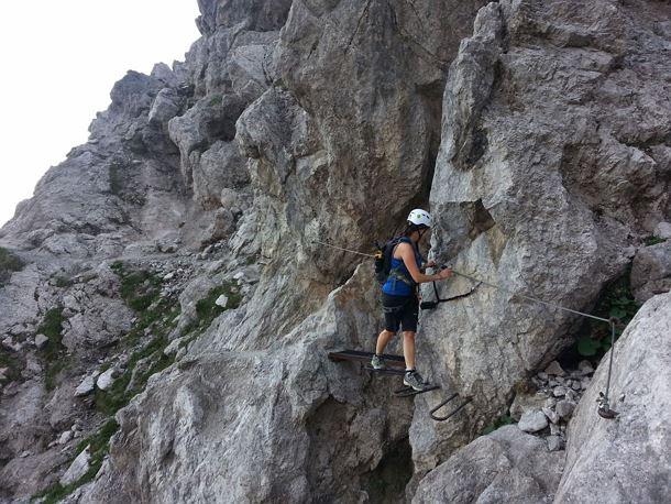 Klettersteig Wilder Kaiser : Eisenkrone jubiläumssteig klettersteig klamml tag
