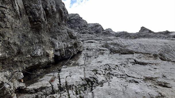 Klettersteig Ellmauer Halt : Klettersteig am ellmauer halt u stockfoto hummelos