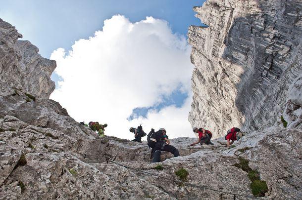 Klettersteig Wilder Kaiser Ellmauer Halt : Kaiserkrone alternativroute durchschreitung ellmauer tor