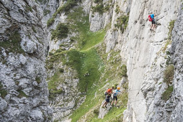 Klettersteig Wilder Kaiser : Klettersteig klamml