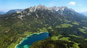 Hiking routes to Lake Hinterstein